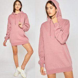 NEW Mauve Pink Hoodie SOFT Sweatshirt Tunic Dress
